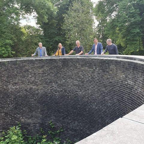 Samen met de gedeputeerde van Provincie Utrecht bij De Knekelput in Utrecht
